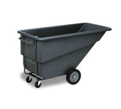 Continental Commercial 5833 BK 1.1-cu yd Standard Duty Tilt Truck w/ Open Top, 800-lbs, Grey
