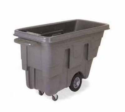 Continental Commercial 5839 BK 5/8-cu yd Utility Duty Tilt Truck w/ Open Top, 300-lbs, Gray