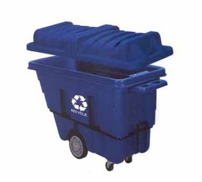 Continental Commercial 5840-1 5/8-cu yd Standard Duty Recycling Tilt Truck, 750-lbs, Blue