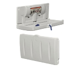Continental Commercial 8252-H Horizontal Baby Changing Table w/ Interior Towel Dispenser, White