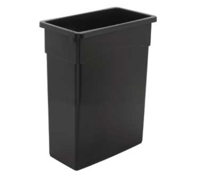 Continental Commercial 8316 GY 16-Gal Wall Hugger Trash Can, Without