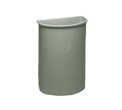 Continental Commercial 8321GY 21-Gal Wall Hugger Container for Cart Models 5800 & 5805, Grey