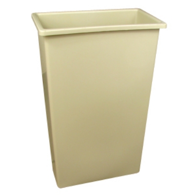 Continental Commercial 8322 BE 23-Gal Wall Hugger Trash Can, Beige