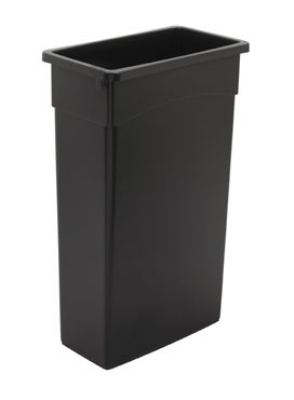 Continental Commercial 8322BK 23-Gallon General Purpose Waste Container, Polyethylene, Black