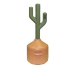 Continental Commercial 889 Cactus Smoking Trash Can, Green & Tan