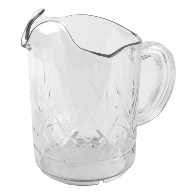 Continental Commercial 9762CL 60-oz Tri-Pour Pitcher, Poly-Clear