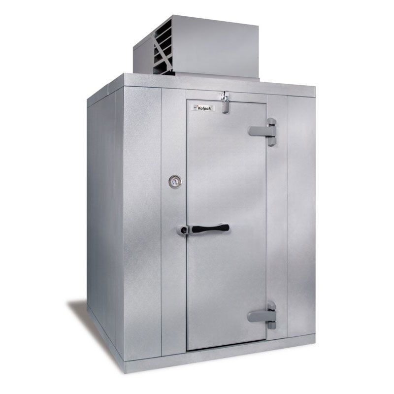Kolpak P6-068-FT R Top Mount Walk In Freezer w/ Dial Thermometer & Hinged Right, 78x70x93""