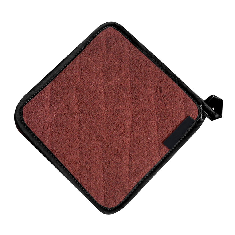 San Jamar 802TPH Heavy Duty Terry Cloth Pot Holder, 8 x 8-in, Brown