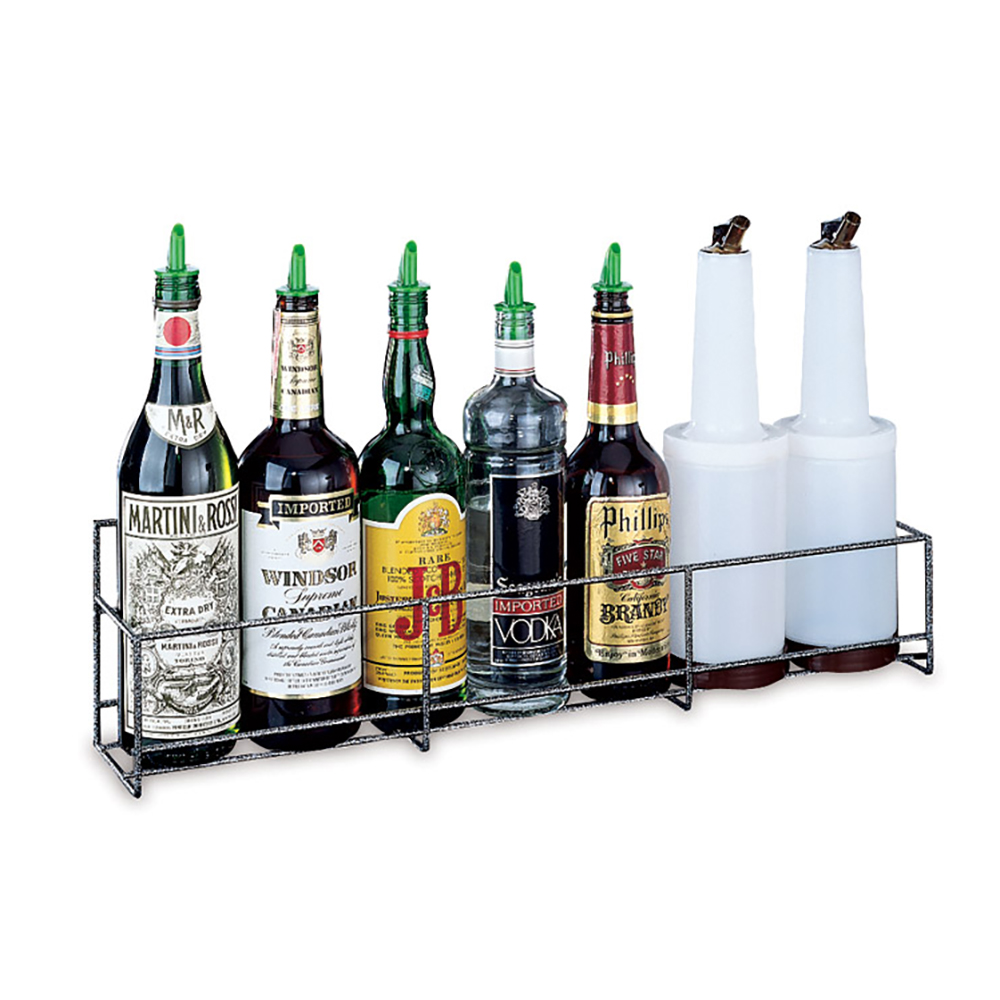 San Jamar B5636SG Gourmet Speed Rack, Holds 9 Quart/Liter Bottles, Single, Wire