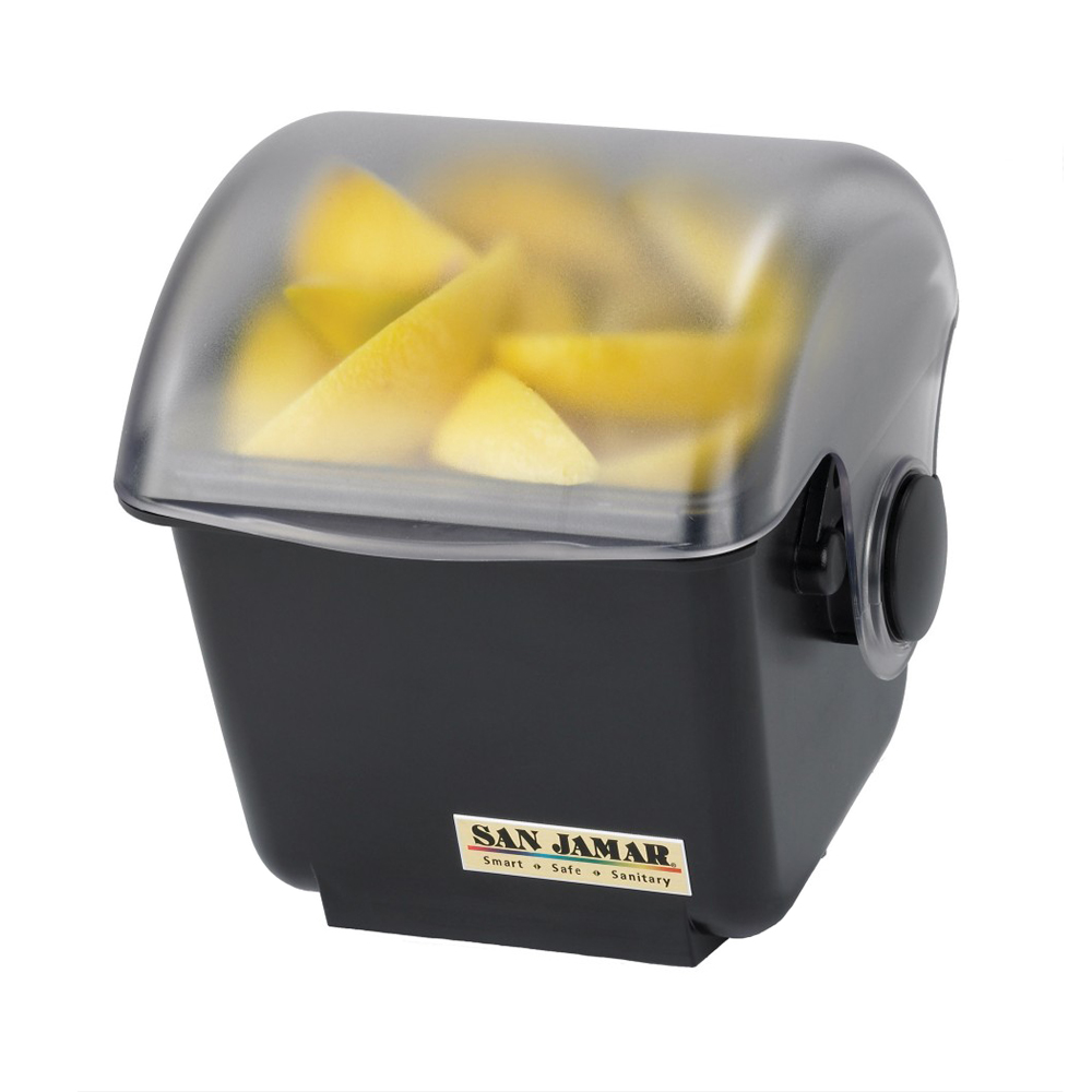 San Jamar BD2002 Mini Dome Domed Condiment Center, 1 qt Chillable Tray, Black Base, NSF
