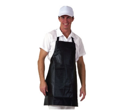 San Jamar 604VBA-E Vinyl Apron, 25 x 28-in, Waterproof, Fire Retardant, Brown
