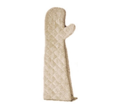 San Jamar 824TM Oven Mitt, 24-in, Heavy Duty Institutional Grade Terry, Tan