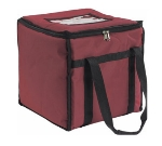 San Jamar FC1212-MRN Insulated Food Carrier, Heavy Vinyl Exterior, Zipper Closure, Burgundy