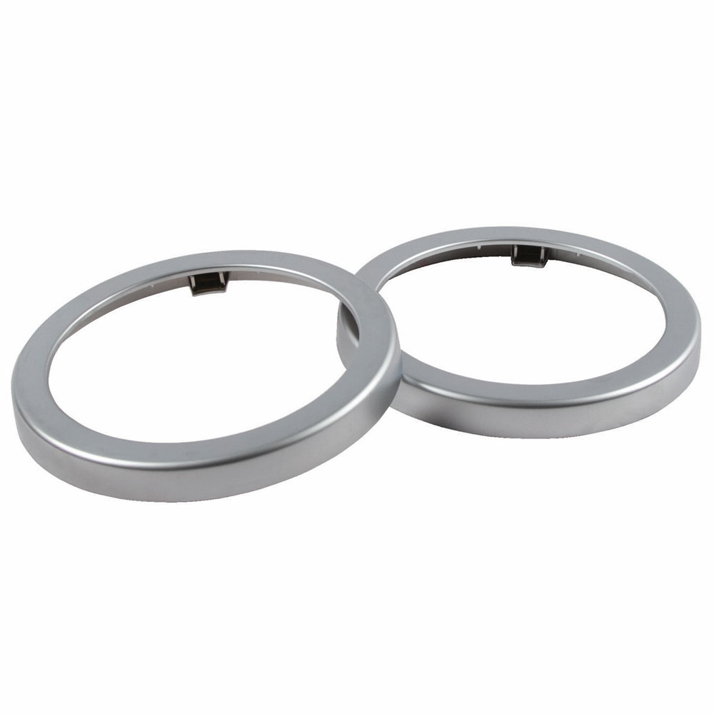 San Jamar C24XC EZ-Fit Metal Finish Rings, 2 per pack