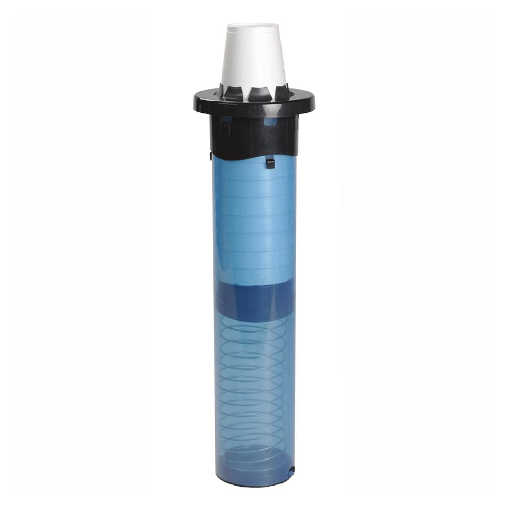San Jamar C5250C18 Euro 1-Size Dispenser w/ Rim, 18-in Tube, 4-24-oz Cups