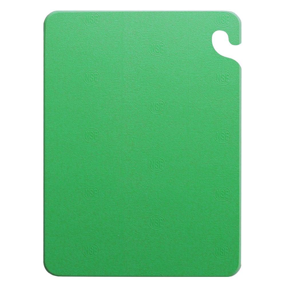 San Jamar CB101212GN KolorCut Cutting Board, 10 x 12 x 1/2 in, NSF, Green