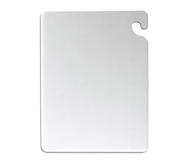 San Jamar CB152038WH KolorCut Cutting Board, 15 x 20 x 3/8 in, White, NSF