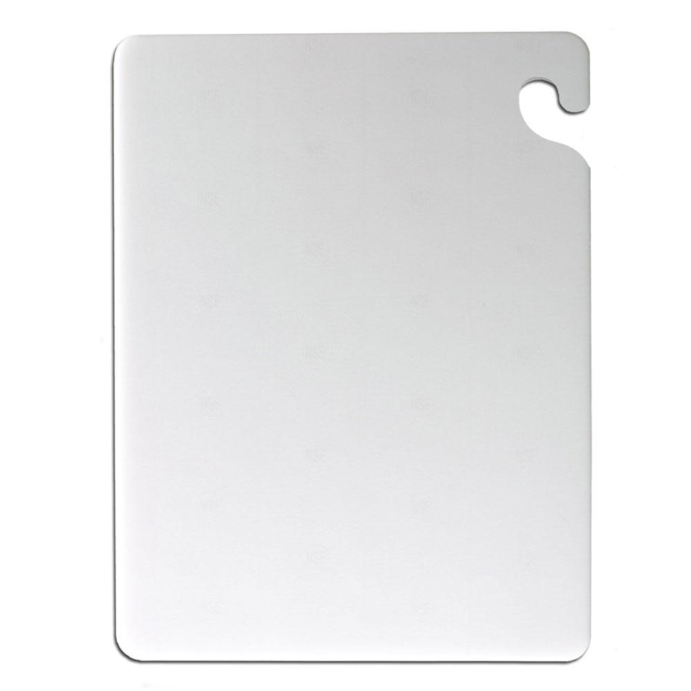 San Jamar CB182412WH KolorCut Cutting Board, 18 x 24 x 1/2 in, NSF, White