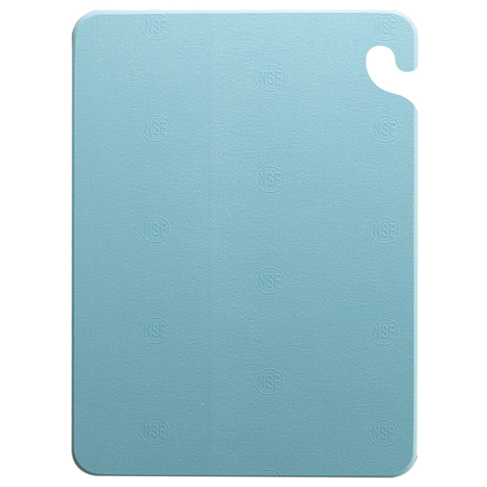 San Jamar CB182434BL KolorCut Cutting Board, 18 x 24 x 3/4 in, NSF, Blue