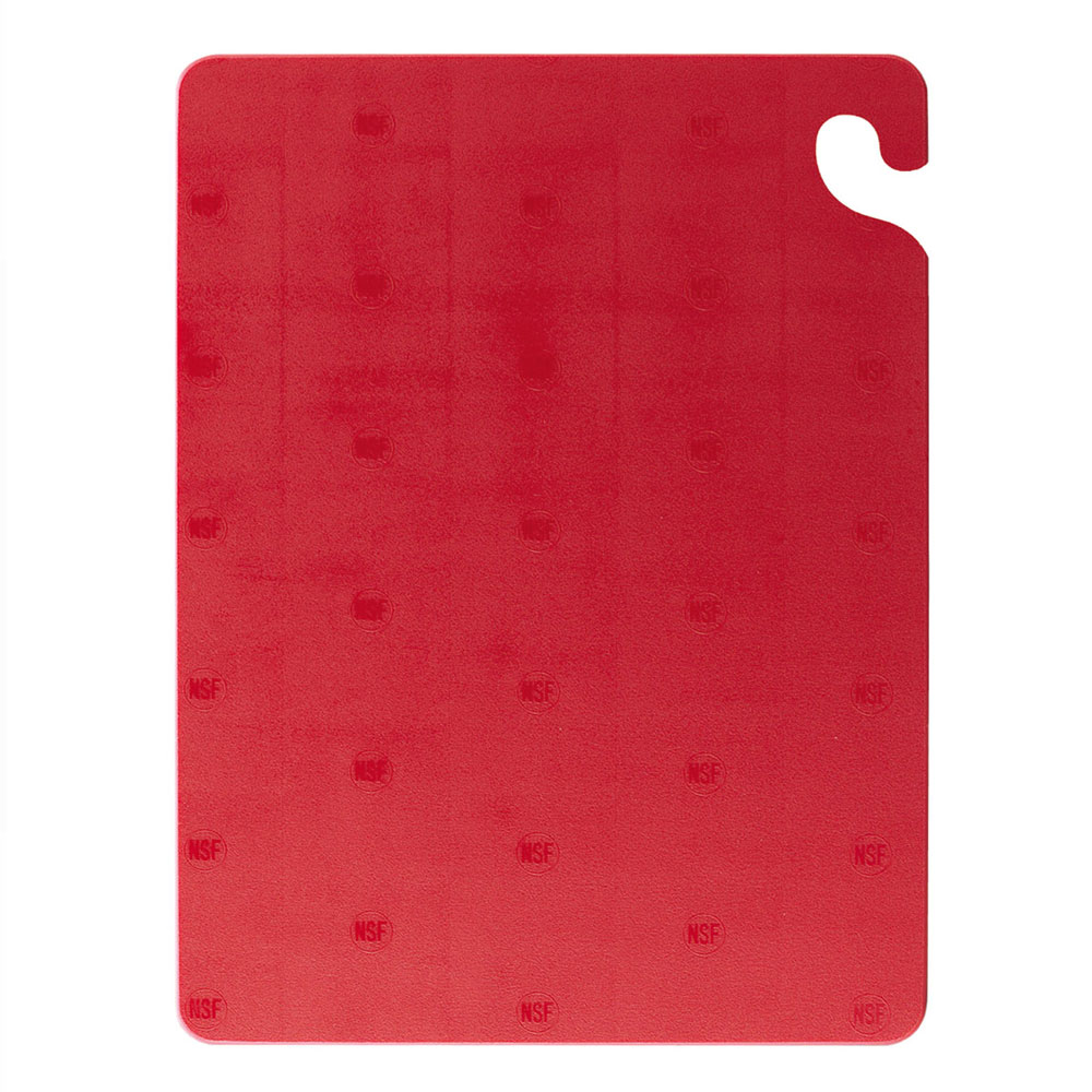 San Jamar CB182434RD KolorCut Cutting Board, 18 x 24 x 3/4 in, NSF, Red