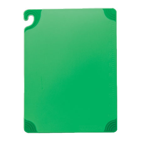 San Jamar CBG182412GN Saf-T-Grip Cutting Board
