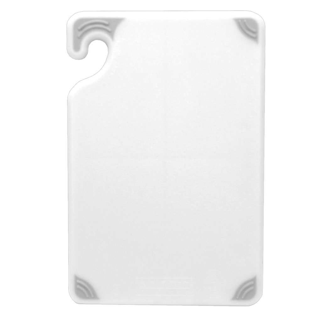 San Jamar CBG121812WH Saf-T-Grip Cutting Board, 12 x 18 x 1/2 in, NSF, Whi