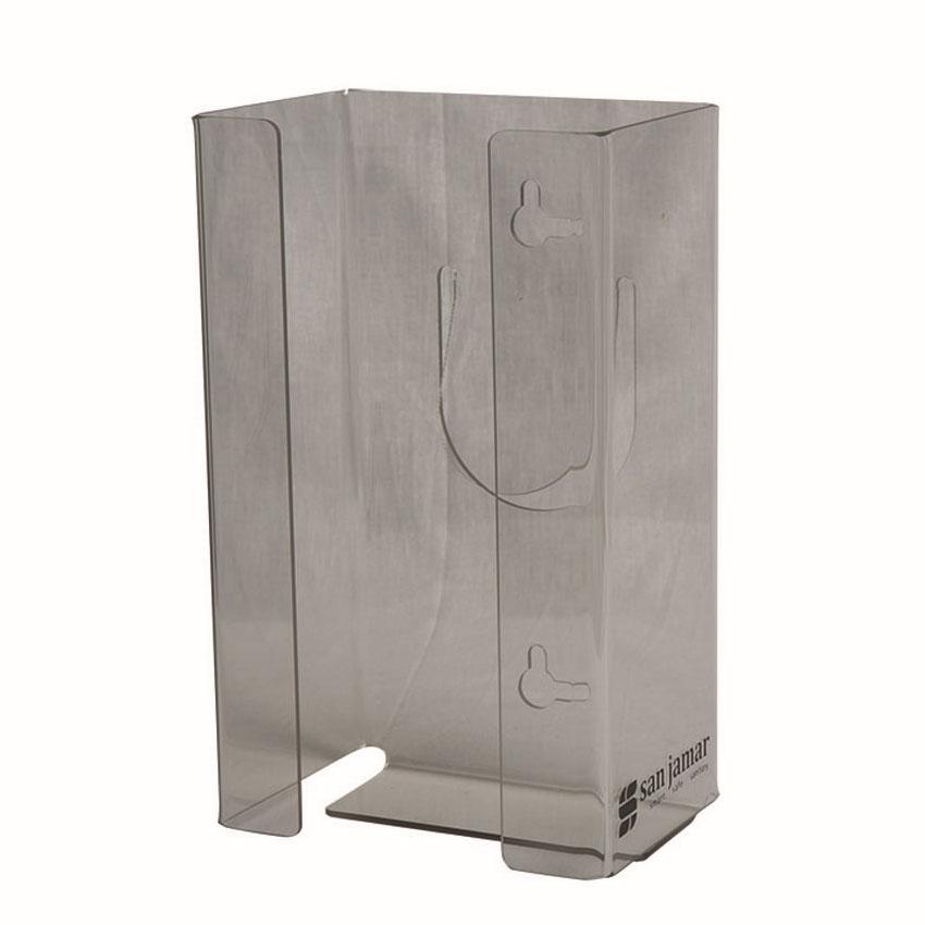 San Jamar G0803 Clear Disposable Glove Dispenser  (1 box cap.)