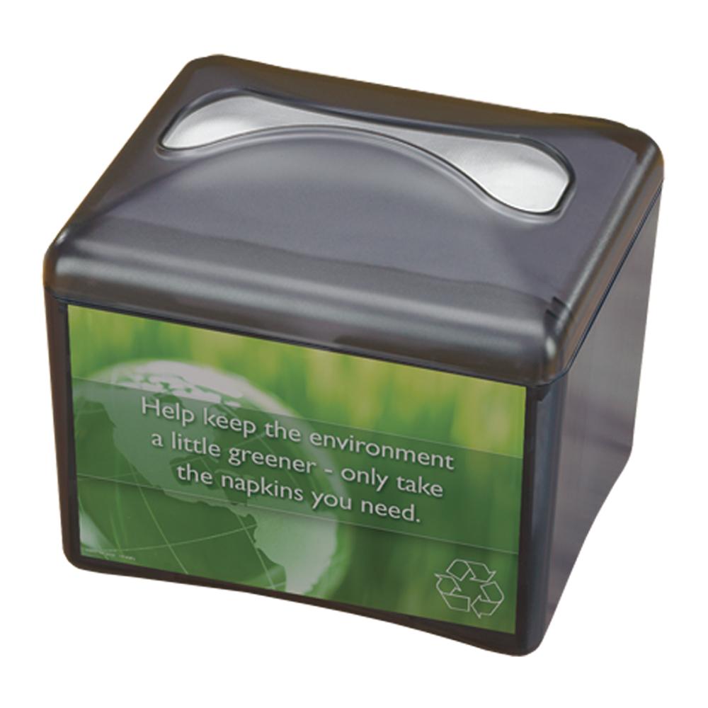 San Jamar H4003TBK Tabletop Napkin Dispenser w/ Interfold, Plastic, Black Pearl