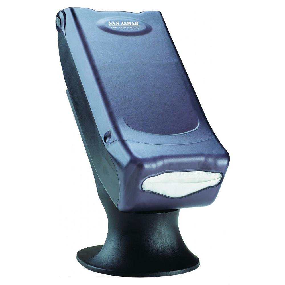 San Jamar H5000STBK Venue Napkin Dispenser w/ Stand, Black Pearl
