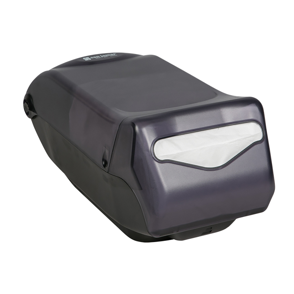 San Jamar H5005TBK Venue Countertop Napkin Dispenser, Fullfold Control, 550 Capacity, Black Pearl