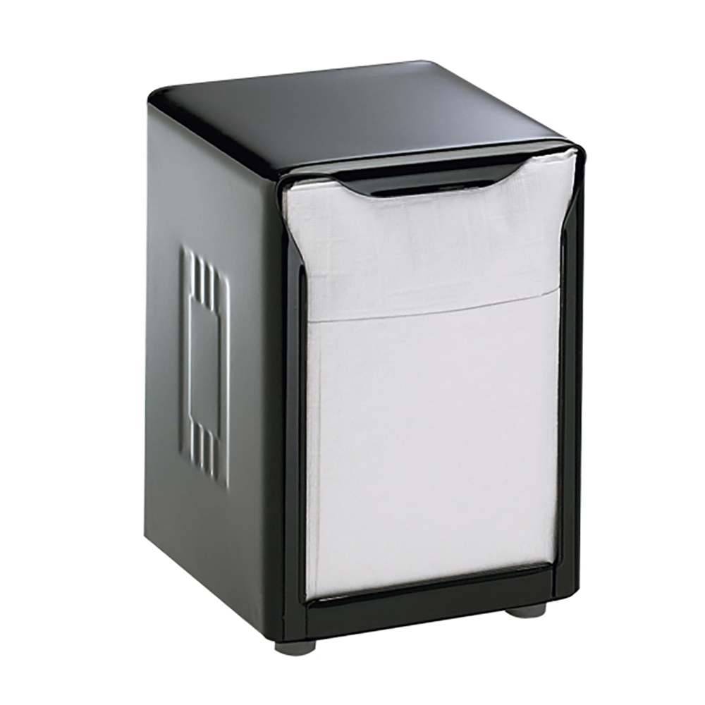 San Jamar H985BK Napkin Dispenser, Table-Top, 150 Lowfold Napkins, Black