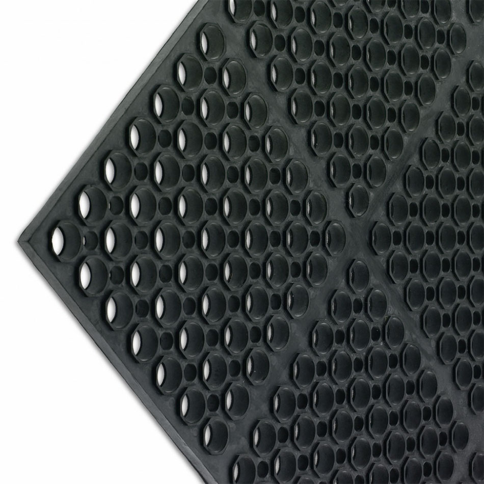 San Jamar KM2100B K-Mat Bar Mat, Anti-Slip, 36 x 60 x 3/4 in Thick, Bullnose Edge, Black