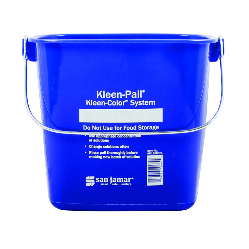 San Jamar / Katchall KP196KCRD Kleen-Pail Kleen-Color System 6 quart Red Restaurant Supply