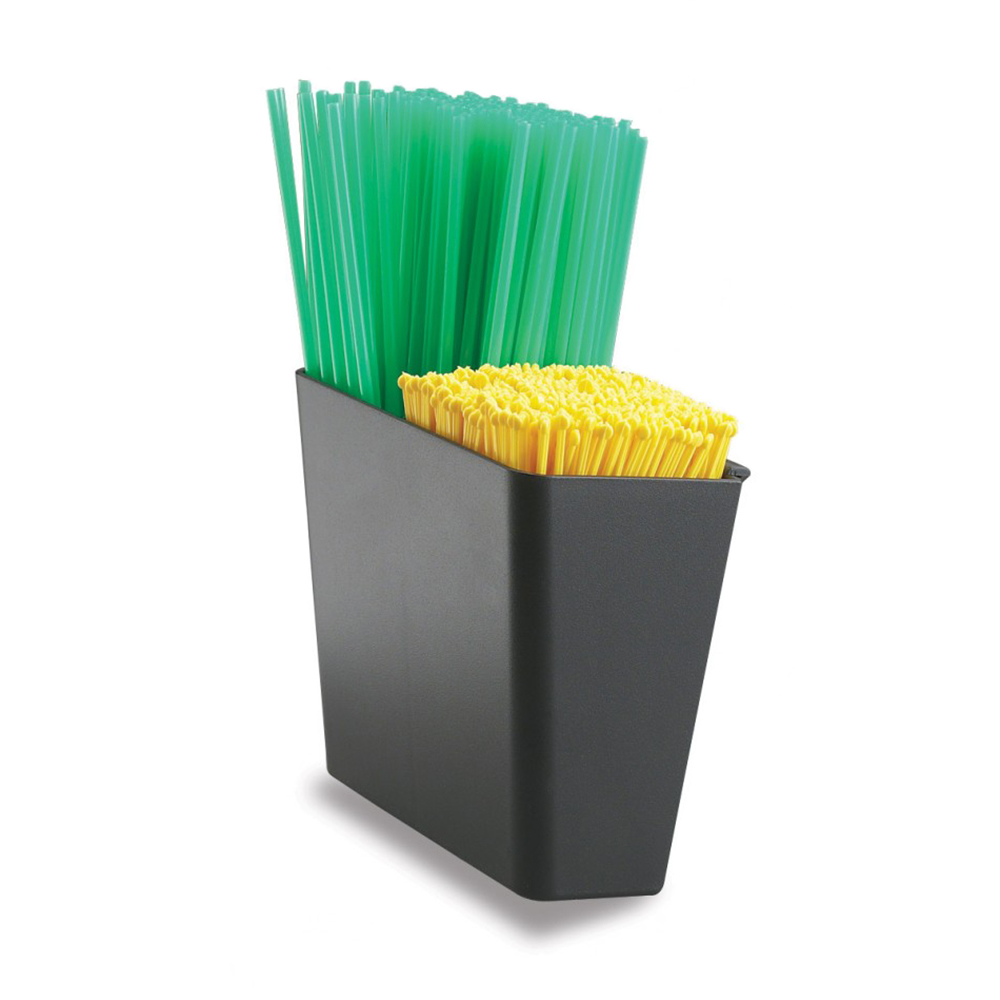 San Jamar L1035 Stir Stick / Straw Caddy, Plastic Insert for Variable Lengths