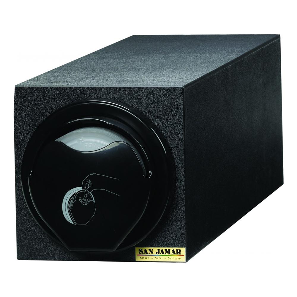 San Jamar L2920BK Counter Lid Dispenser Box System w/ 1-L2400C & Blac