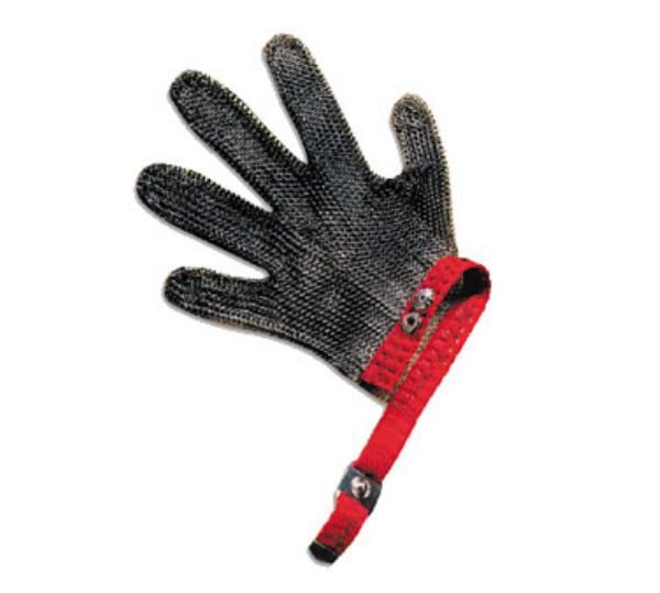 San Jamar MGA515M Chainex Cut Resistant Glove, 5 Finger, SS Me