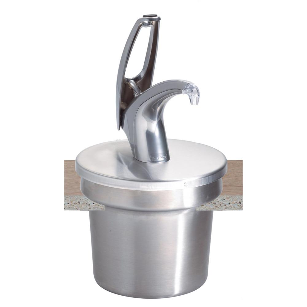 San Jamar P4710 FrontLine 7-Quart Round Cover & Pump System