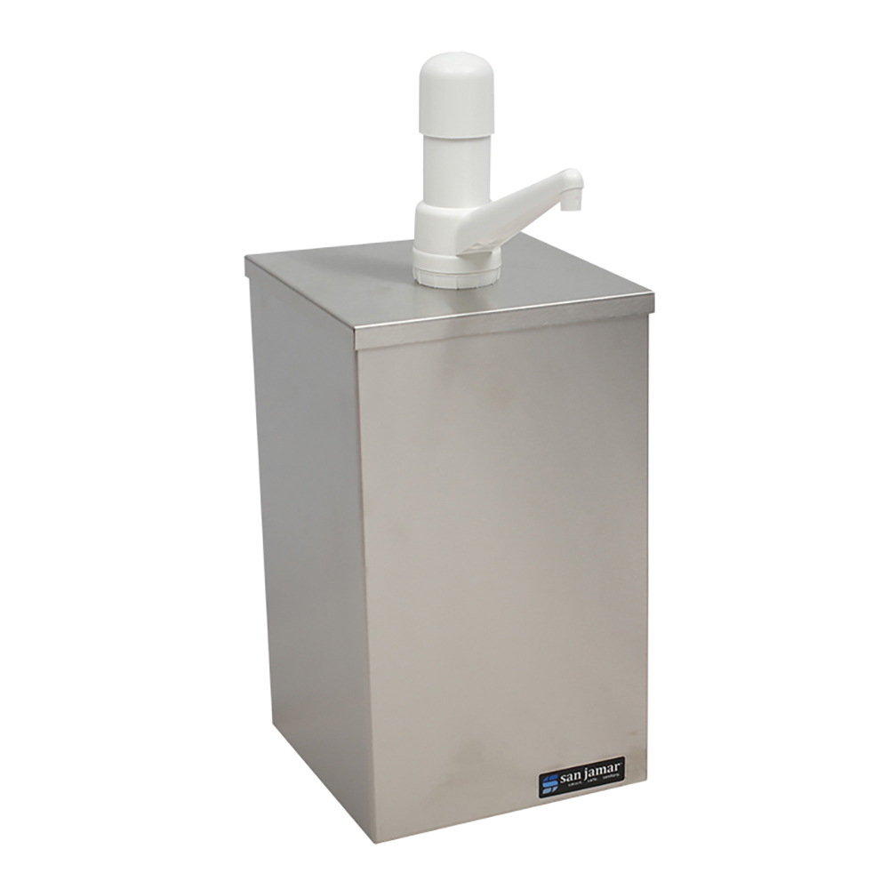 San Jamar P9800 Condiment Pump Box 1 Gal Jar