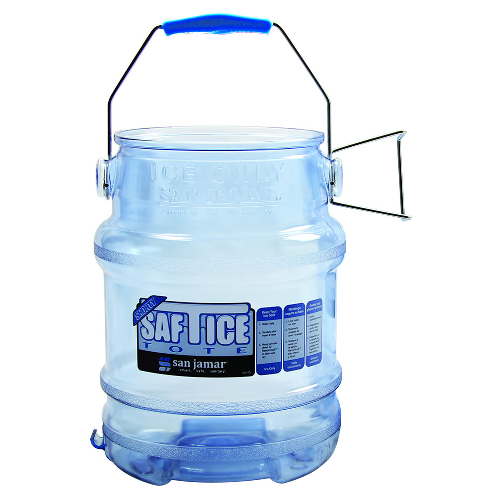 San Jamar SI6100 Saf-T-Ice Shorty Ice Tote - 5 gal.