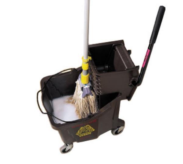 Mop Station : ... Mop Kolor-Cut Holder, Polyethylene, Clips To Bucket or Mop Station