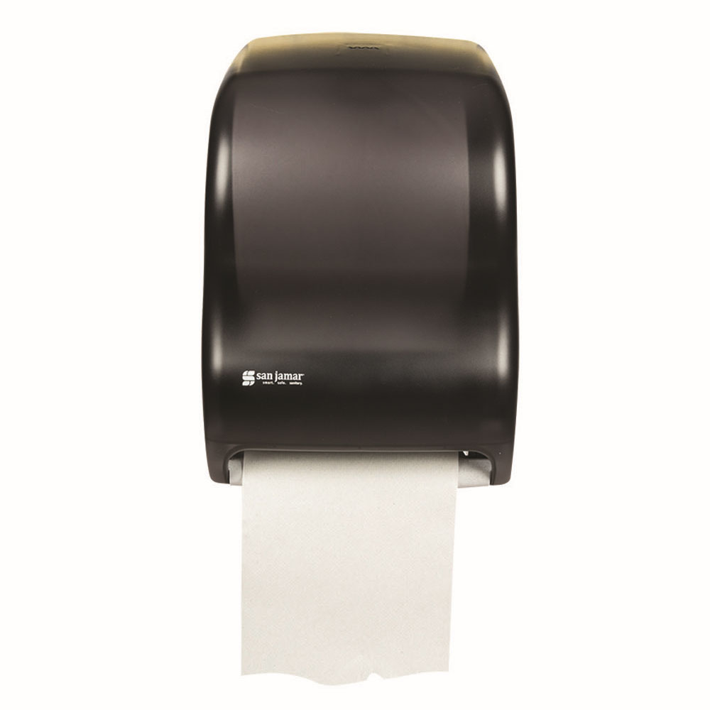 San Jamar T1300TBK Classic Tear N Dry Towel Dispenser, 8 x 8 in Roll, Electronic Touchless, Black