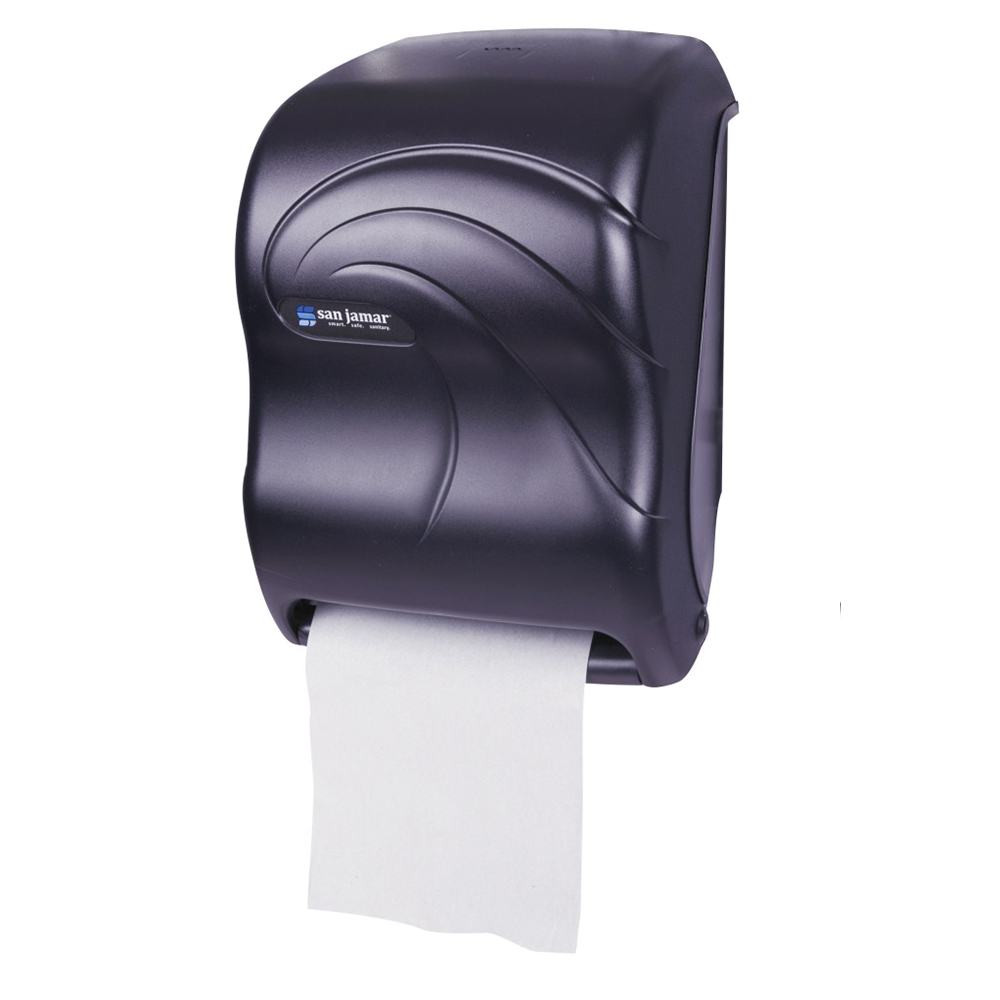 San Jamar T1390TBK Classic Tear-N-Dry Towel Dispenser, 8 x 8 in Roll, Electronic Touchless, Black