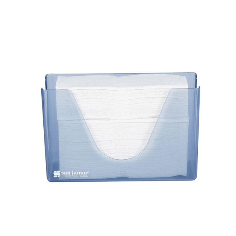 San Jamar T1720TBL Countertop Folded Towel Dispenser w/ Compact Footprint, Clean Design, Arctic Blue