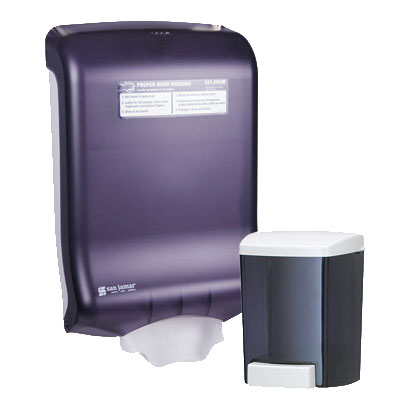 San Jamar T1730TBK Wall Mounted Hand Washing Station, Combo Pack
