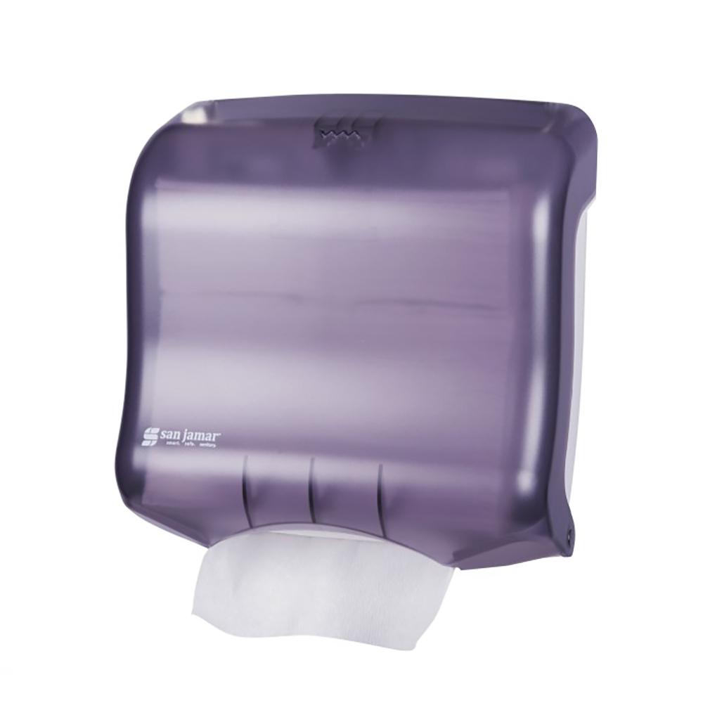 San Jamar T1750TBK Oceans Kolor-CutT Towel Dispenser, Mini Ultrafold, Translucent Black Pearl