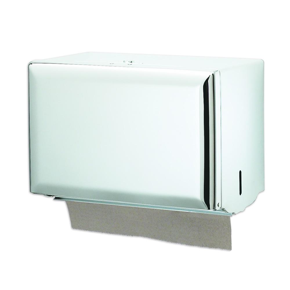 San Jamar T1800WH Classic Singlefold Towel Dispenser, 20 Gauge Steel Front