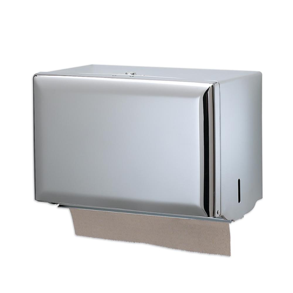 San Jamar T1800XC Classic Singlefold Towel Dispenser, 20 Gauge Steel Front & Back, Bright Chrome