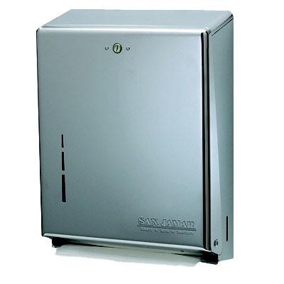 San Jamar T1900SS Multifold Towel Dispenser, Large Cap, Metal Fron