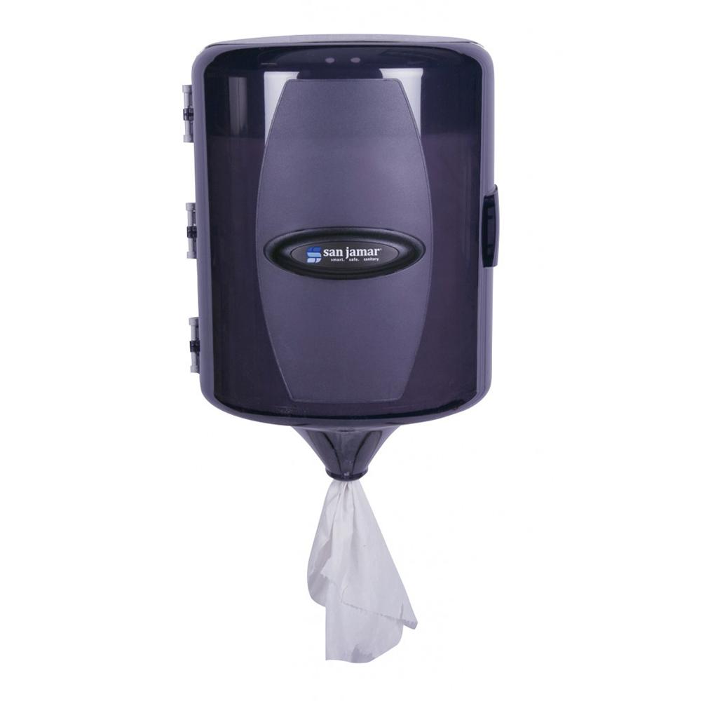 San Jamar T410TBK Adjustable Center Pull Towel Dispenser w/ 9.5-in Roll Capacity, Pla