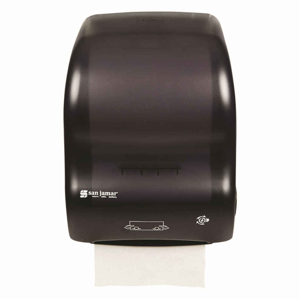 San Jamar T7000TBK Simplicity Hands Free Paper Towel Dispenser, 8 x 8 in Roll, Black Pearl